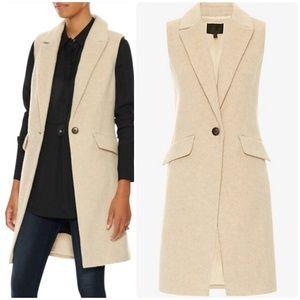 Intermix Wool Long Vest